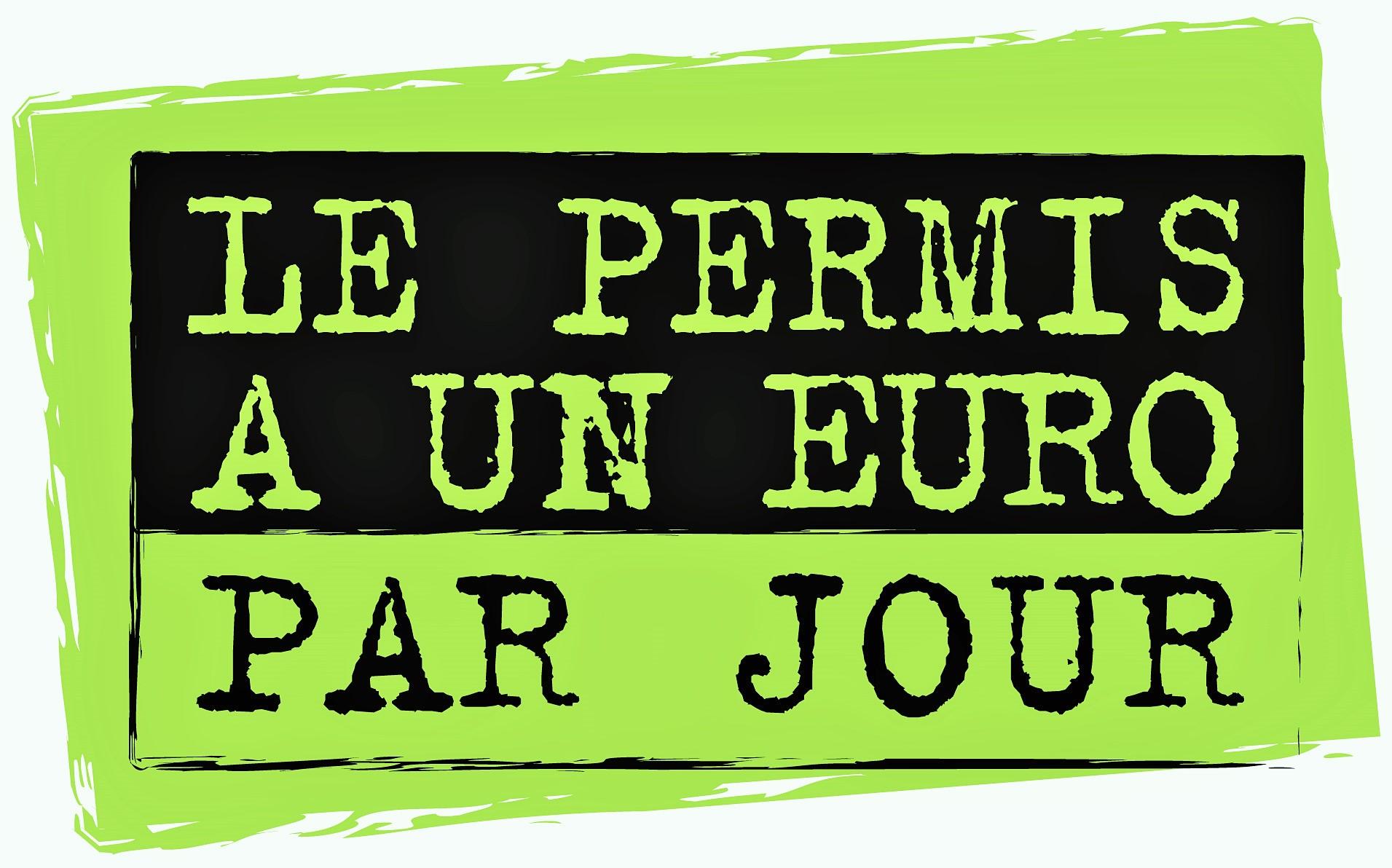 Permis à 1 euro par jour